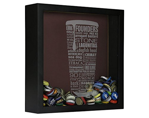 craft beer cap collector 39 s box beerrevolt On craft beer typography beer cap shadow box beer cap collector