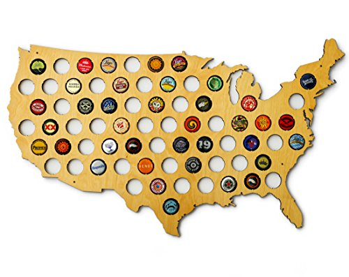 Usa Beer Cap Map By Skyline Workshop Beerrevolt